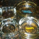 VINTAGE GLASS COLLECTIBLES HOTEL'S AHSTRAYS LOT OF 4