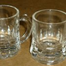 VINTAGE COLLECTIBLE FEDERAL CLEAR GLASS SHOT GLASS MINI STEIN SET OF 2