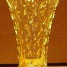 VINTAGE CLEAR GLASS DECORATIVE PATTERN CRYSTAL BUD VASE