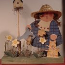 BEAUTIFUL HANDCARVED PAINTED WOODEN FARM DOLL