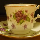 VINTAGE ROYAL DOVER BONE CHINA PORCELAIN DEMITASSE CUP AND SAUCER SET VIOLETS