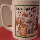BEAUTIFUL &#39;MAKE A JOYFUL NOISE...&#39; PORCELAIN MUG BY CEDAR HILL ST