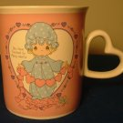 CHARMING ENESCO PRECIOUS MOMENTS PINK & BLUE CUP/MUG YOU TOUCHED SO MANY HEARTS