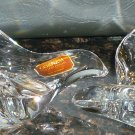 VINTAGE CRYSTAL CANDLEHOLDERS BY GORHAM WEST GERMANY FLYING BIRD DOVE STUNNING 2