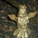VINTAGE SOLID BRASS BRONZE CANDLE SNUFFER ANGEL