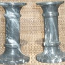 BEAUTIFUL GRANITE CANDLE HOLDERS SET OF 2 CANDLEHOLDERS