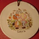 ADORABLE VINTAGE STAFFORDSHIRE CROWNFORD HUMOROUS PLATE CROSSTICH