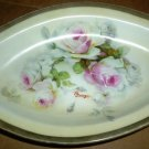 STUNNING ANTIQUE O & E.G. ROYAL AUSTRIA PLATTER HANDPAINTED ROSES GEORGES SIGNED