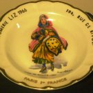 VINTAGE ANTIQUE GOUMOT- LABESSE LIMOGES PLATE ASHTRAY 'DAME DE QUALITE'