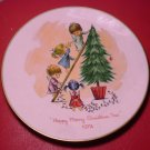 VINTAGE MOPPETS GORHAM CHRISTMAS 1974 PORCEAIN PLATE