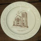 VINTAGE PORCELAIN ST JOHN'S EV LUTHERAN CHURCH YORKERS NY Homer Laughlin Theme