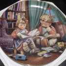 DANBURY MINT M.J. HUMMEL PLATE LITTLE COMPANIONS COLLECTION BUDDING SCOLARS' NMB