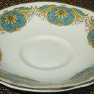 VINTAGE FINE BONE PORCELAIN ROYAL TARA IRISH REPUBLIC SAUCER BLUE GOLD