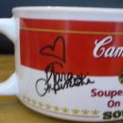 CAMPBELLS SOUP MUG SOUPER STARS ON ICE 1998 SIGNED BOBEK KWAN LIPINSKI SET OF 4