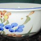 VINTAGE CHI JIANG CHINA - PORCELAIN CERAMIC WHITE BLUE SOUP/CEREAL BOWL
