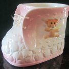 VINTAGE PORCELAIN PINK BABY SHOE NANCY PEW BY GIFTWARE