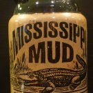VINTAGE MISSISSIPPI MUD 1 QUART BLACK & TAN BOTTLE DECANTER PITCHER