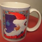 BEAUTIFUL CHRISTMAS OTAGIRI  SANTA PORCELAIN MUG 'PIECE ON EARTH' FOR ENESCO