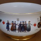 CHARMING PORCELAIN WYSOCKI FOOTED BOWL CHIRSTMAS LOVE 2000 BY TELEFLORA