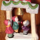 COLLECTIBLE LEMAX PORCELAIN FIGURINE KIDS RINGING THE BELL