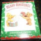 HALLMARK MERRY MINIATURES ANNIVERSARY EDITION 2 BEARS