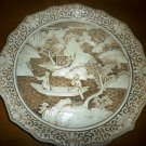CARVED FAUX IVORY PLATE ORIENTAL OFF WHITE BY IVORY DYNASTY ARNART