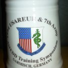 CERAMIC COMMEMORATIVE 1994 USAREUR 7th ARMY AMEDD SYMPOSIUM GERMANY LID STEIN