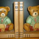 CHARMING BOOKENDS BEAR KINDERGARDEN WOODEN KIDS ROOM DECOR CHILDREN