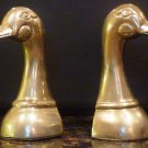 SOLID BRASS BOOKENDS DUCKHEAD SET OF 2