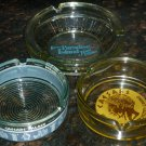VINTAGE GLASS COLLECTIBLES HOTEL'S ASHTRAYS LOT OF 3