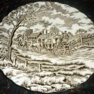 VINTAGE STAFFORDSHIRE IRONSTONE ROYAL MAIL SET OF 2 BREAD DESERT PLATES