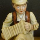 VINTAGE PORCELAIN FIGURINE MAN PLAYING RUSSIAN ACCORDION OCCUPIED JAPAN