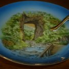 UNIQUE VINTAGE PORCELAIN PLATE WITH HANDLE THE NATURAL BRIDGE OF VIRGINIA JAPAN