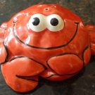 CUTE CERAMIC HANDPAINTED SHAKER CRAB RED