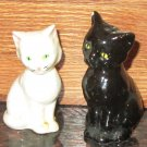 VINTAGE GOEBEL WEST GERMANY BLACK & WHITE CAT SALT & PEPPER SHAKERS