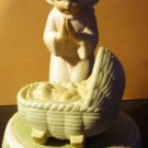 CHARMING PORCELAIN FIGURINE 'BABY'S FIRST CHRISTMAS' GUARDIAN ANGEL LEFTON CHINA