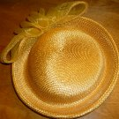 GORGEOUS VINTAGE SUMMER STRAY HAT WITH A BOW BY DEBORAH OF NEW YORK COLLECTIBLE