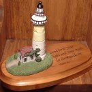 COLLECTIBLE PLAQUE RELIGIOUS INSPERATIONAL DICKSONS LIGHTHOUSE WITH PSALM 43:3