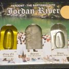 RELIGIOUS JORDAN RIVER BAPTISMAL SITE YARDENIT SET OIL STONE WATER NMB