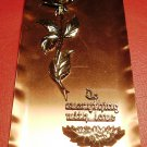 STUNNING VINTAGE COPPER ROSE PLAQUE FROM GERMANY WITH LOVE VALENTINE DAY