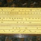 "VINTAGE SLIDE RULER ""UNIQUE"" UNIVERSAL ENGLAND WOOD & PLASTIC"