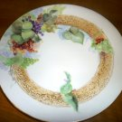 GORGEOUS VINTAGE PLATE GRAPE ON VINE JPL FRANCE POUYAT LIMOGES CHEESE SERVING