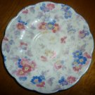 VINTAGE ROYAL ALBERT ROYAL BONE CHINA BLUE RED FLORAL SAUCER