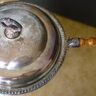 VINTAGE GORGEOUS SILVERPLATE SHERIDAN CHAFING LIDDED POT SERVER