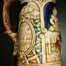 VINTAGE CERAMIC OVERSIZED GERMAN BEER STEIN JAPAN 60/268 TILSO HANDPAINTED