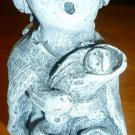 MT. ST. HELENS VOLCANIC ASH SCULPTURES WOMAN WITH KIDS FIGURINE