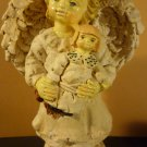 CHARMING ANGEL FIGURINE GIRL WITH A DOLL