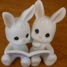 CHARMING PRECIOUS MOMENTS BEDTIME BUNNIES THERE ARE TWO SIDES EVERY STORY 325368