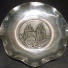 PEWTER CONVOLUTED DECORATIVE PLATE SALT LAKE CITY LATTER DAY SAINT MORMON TEMPLE