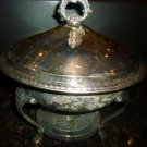 SILVERPLATED F.B. ROGERS CHAFING DISH WITH STAND & HEATING ELEMENT